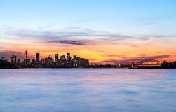 Sydney Skyline at dawn Royalty Free Stock Images