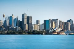 Sydney Skyline - Daytime View from Cremorne Point. Cremorne Point, Sydney, Australia - September 11, 2018: City Skyline in Sydney Harbour - Daytime View from stock photography