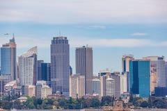 Sydney Skyline - de hoge gebouwen van het stijgingsbureau in het centrum van Sydney, Australië Royalty-vrije Stock Foto's
