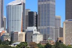 Sydney city high-rise buildings. The impressive downtown buildings of Sydney, Australia Stock Photo