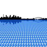 Sydney skyline with dollars Stock Photos