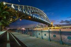 Sydney skyline at dusk Royalty Free Stock Photo