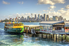 Sydney skyline with ferries Royalty Free Stock Images