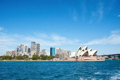 Sydney skyline from the habor Royalty Free Stock Image