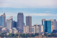 Sydney Skyline - high rise office buildings in the centre of Sydney, Australia. Sydney Skyline - high rise office buildings in the centre of Sydney, Australia Royalty Free Stock Image