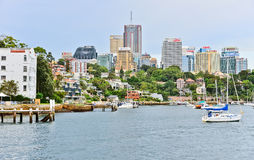 Sydney skyline and Lavender Bay in Sydney Stock Photography
