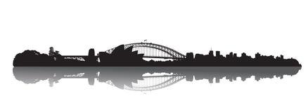 Sydney-Skyline: Oper und Hafen Lizenzfreies Stockbild