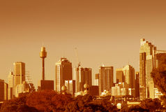 Sydney Skyline In Orange Stock Photography