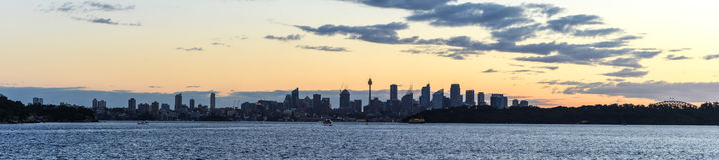 Sydney Skyline Panorama Foto de archivo