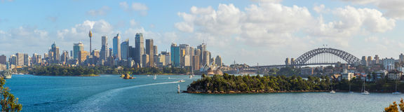 Sydney skyline panorama Royalty Free Stock Images
