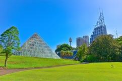 Sydney skyline from Royal Botanic Gardens in Sydney Royalty Free Stock Photos