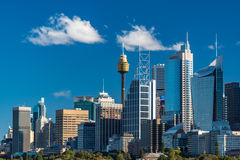 Sydney-Skyline am sonnigen Tag Stockfotos