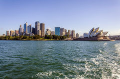 Sydney Skyline. With view of city center and Sydney Opera House Royalty Free Stock Photo