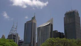 Sydney-SkylineZeitspanne von den botanischen Gärten stock video
