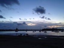 Sydney solnedgång Arkivfoto