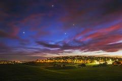 Sydney solnedgång Arkivbild