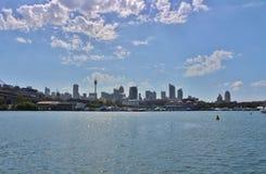 Sydney som ses från den Parramatta floden Royaltyfria Bilder