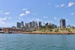 Sydney som ses från den Parramatta floden Fotografering för Bildbyråer