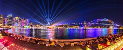 Sydney stad på livliga Sydney 2017 arkivbild