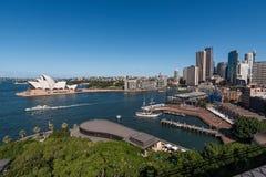 Sydney stadshorisont och hamn Arkivbild