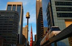 Sydney-Stadt-Einschienenbahn lizenzfreies stockbild