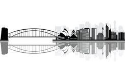 Sydney-Stadt im Sommermorgen Stockfoto