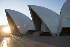 Sydney-Stadt Opernhaus australien stockbilder