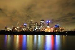 Sydney-Stadtlichter Lizenzfreie Stockfotografie