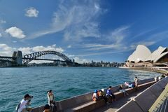 Harbour Bridge and Opera House. Sydney. New South Wales. Australia. Sydney is the state capital of New South Wales and the most populous city in Australia and stock photography