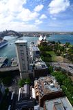 Panorama from InterContinental hotel. Sydney. New South Wales. Australia. Sydney is the state capital of New South Wales and the most populous city in Australia stock photos