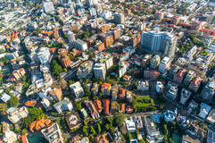 Sydney suburb from the air Stock Photography