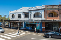 Sydney suburban street in Bondi Stock Image