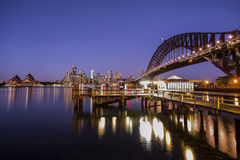 Sydney sunset Kirribilli Royalty Free Stock Images