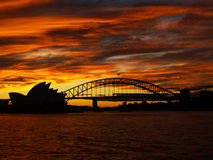 Sydney sunset Royalty Free Stock Photography