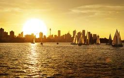 Sydney Sunset Skyline Australia Image stock