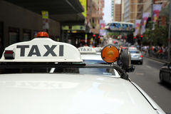 Sydney Taxi Royalty Free Stock Photo