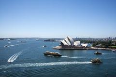 Sydney, teatro da ópera no porto Foto de Stock Royalty Free