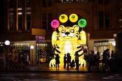 Sydney Tiger-Anzeige des Chinesischen Neujahrsfests Lizenzfreie Stockfotografie