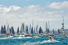 Sydney to Hobart yacht race 2014 Royalty Free Stock Photo