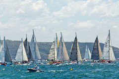 Sydney to Hobart yacht race 2014 Royalty Free Stock Photo