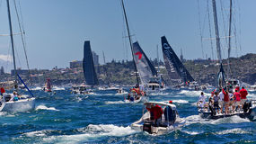 Sydney to Hobart yacht race Royalty Free Stock Images