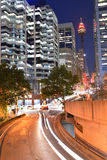 Sydney Tower at night Sydney New South Wales Australia Stock Photos