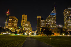 Sydney Tower and skyline of Sydney. Stock Images