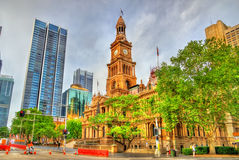 The Sydney Town Hall in Australia. Built in 1889 Royalty Free Stock Image