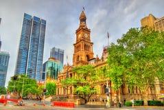 Sydney Town Hall dans l'Australie Construit en 1889 Image libre de droits
