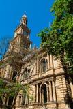 Sydney Town Hall-de bouw, Australië Stock Afbeeldingen