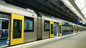 Sydney Train - Empty Train With The Open Doors Royalty Free Stock Photo