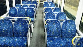 Sydney Train Inside Royalty Free Stock Image