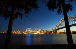 Sydney-Tropenpanorama Lizenzfreies Stockfoto