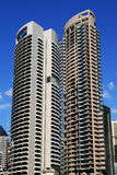 Sydney twin skyscrapers Stock Photography